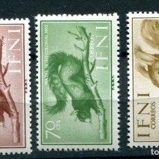 Sellos: EDIFIL 125/127 DE IFNI, TEMA ANIMALES. NUEVOS SIN FIJASELLOS. VER DESCRIPCIÓN.. Lote 183172580