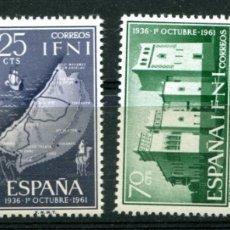 Sellos: EDIFIL 179/182 DE IFNI. TEMA FRANCO. NUEVOS SIN FIJASELLOS.. Lote 183192701