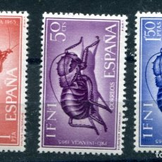 Sellos: EDIFIL 212/214 DE IFNI, TEMA ANIMALES. NUEVOS SIN FIJASELLOS. . Lote 183196793