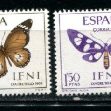 Sellos: EDIFIL 221/224 DE IFNI, TEMA MARIPOSAS. NUEVOS SIN FIJASELLOS. . Lote 183197026