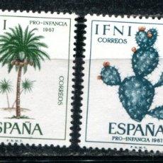 Sellos: EDIFIL 225/228 DE IFNI, TEMA PLANTAS. NUEVOS SIN FIJASELLOS. . Lote 183197111