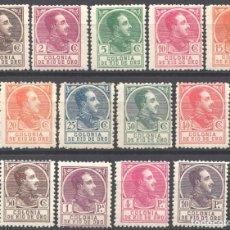 Sellos: RIO DE ORO 1919 EDIFIL Nº 104N / 116N /*/, MUESTRA NUMERACIÓN A.000,000 . Lote 183209663