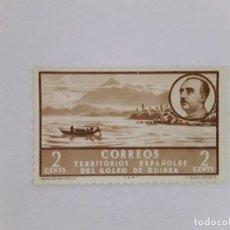 Sellos: GOLFO DE GUINEA SELLO USADO SEÑAL CHARNELA. Lote 183250195
