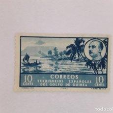 Sellos: GOLFO DE GUINEA SELLO USADO SEÑAL CHARNELA. Lote 183250221