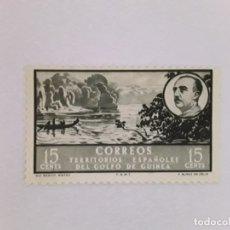 Sellos: GOLFO DE GUINEA SELLO USADO SEÑAL CHARNELA. Lote 183250236