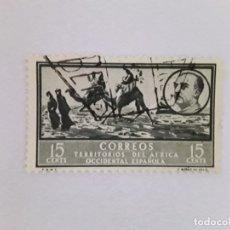 Sellos: ÁFRICA OCCIDENTAL ESPAÑOLA SELLO USADO SEÑAL CHARNELA. Lote 183250513