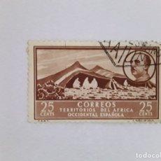 Sellos: ÁFRICA OCCIDENTAL ESPAÑOLA SELLO USADO SEÑAL CHARNELA. Lote 183250530