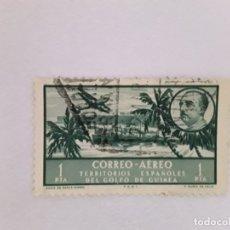 Sellos: GOLFA DE GUINEA SELLO USADO SEÑAL CHARNELA. Lote 183250996