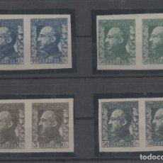 Sellos: GUINEA ESPAÑOLA=EDIFIL Nº 260/63_FRANCO EN PAREJA SIN DENTAR_CATALOGO:144 EUROS_VER FOTO. Lote 183403787