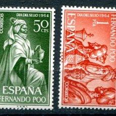 Sellos: EDIFIL 235/238 DE FERNANDO POO, EN BLOQUE DE 4. TEMA DIA DEL SELLO. VER DESCRIPCIÓN. Lote 183419875