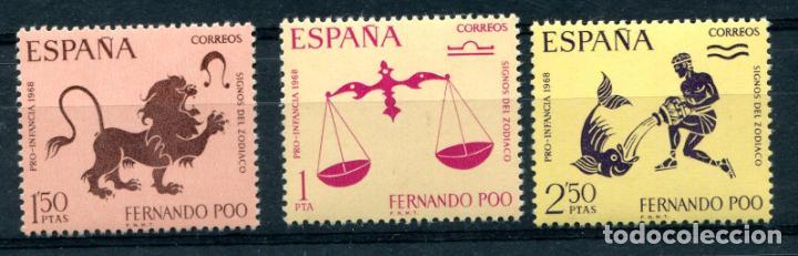 EDIFIL 265/267 DE FERNANDO POO. TEMA SIGNOS EL ZODÍACO. VER DESCRIPCIÓN (Sellos - España - Colonias Españolas y Dependencias - África - Fernando Poo)