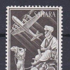 Francobolli: SAHARA.- Nº 189 INDIGENA Y AVION EN VUELO NUEVO SIN CHARNELA (LOS DE LA FOTO). Lote 183796476