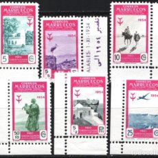 Sellos: MARRUECOS, 1954 EDIFIL Nº 394 / 399 /**/, SIN FIJASELLOS, . Lote 183856830