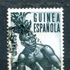 Sellos: EDIFIL 329 DE GUINEA. 1'90 DE LA SERIE DE INDÍGENAS. VER DESCRIPCIÓN. Lote 183860103