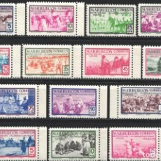 Sellos: MARRUECOS, 1952 EDIFIL Nº 343 / 356 /**/, INDÍGENAS, SIN FIJASELLOS, . Lote 183862098