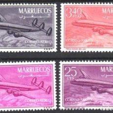 Sellos: MARRUECOS, ZONA NORTE 1956 EDIFIL Nº 9 / 12 /**/, SIN FIJASELLOS, . Lote 183863173