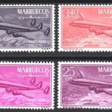 Sellos: MARRUECOS, ZONA NORTE 1956 EDIFIL Nº 9 / 12 /**/, SIN FIJASELLOS, . Lote 183863216