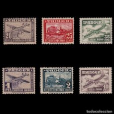 Sellos: TANGER.1948. AVIONES.SERIE MNH*. EDIFIL 166-171.. Lote 183905950