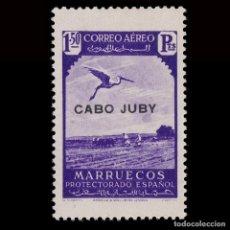 Sellos: CABO JUBY 1938.SELLOS MARRUECOS.HABILITADOS.1,50 VIOLETA.NUEVO* MN.EDIFIL 109. Lote 184653061