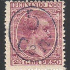 Sellos: FERNANDO POO, 1896 -1900 EDIFIL Nº 40 J /*/ . Lote 185891632
