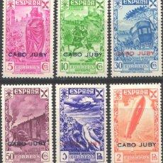 Sellos: CABO JUBY, BENEFICENCIA 1943 EDIFIL Nº 12 / 17 /*/. Lote 186058648