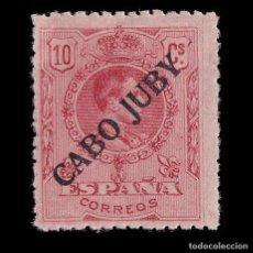 Sellos: CABO JUBY. 1919.SELLOS DE ESPAÑA.1876-1902-22. 10C. ROJO. NUEVO* EDIFIL 8.. Lote 186192793