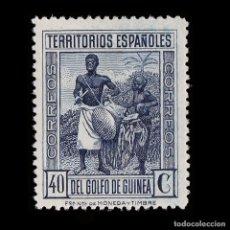Selos: GUINEA.1926.PRO CRUZ ROJA EPAÑOLA.40C.AZUL.NUEVO*. EDIFIL.210. Lote 186197353