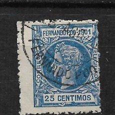 Selos: FERNANDO POO 1901 EDIFIL 101 - 3/1. Lote 187118957