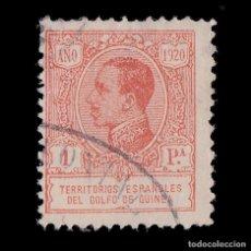 Sellos: .GUINEA 1920.ALFONSO XIII.1P.ROJO.USADO.EDIFIL.151. Lote 187190445