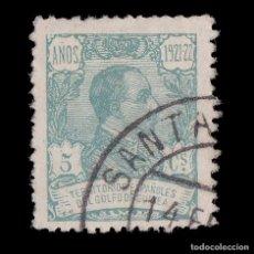 Sellos: GUINEA.1922.ALFONSO XIII.5C.VERDE ESMER. USADO.EDIFIL.156. Lote 187192231