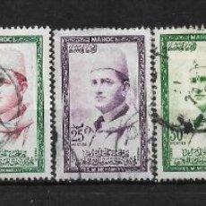 Sellos: MARRUECOS FRANCIA 1957 USADOS - 3/4. Lote 187407885