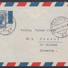 Sellos: SOBRE, TANGER - ALEMANIA, 30 OCT 1949, POR AVIÓN, . Lote 187452260