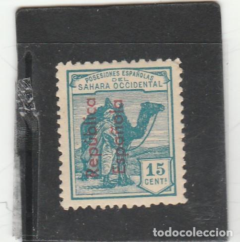 SAHARA ESPAÑOL 1943 - EDIFIL NRO. 38 - CHARNELA - HABILITACION VERTICAL (Sellos - España - Colonias Españolas y Dependencias - África - Sahara)