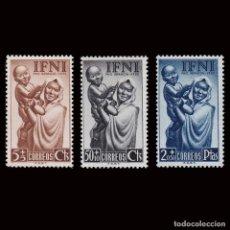 Sellos: IFNI.1952.PRO INFANCIA.SERIE NUEVO**.MNH.EDIFIL 79-81. Lote 189310058