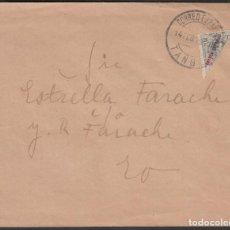 Sellos: TANGER, CORREO INTERIOR DE TANGER, 1919. 20 CTS VERDE BRONCE BISECTADO. Lote 189770396