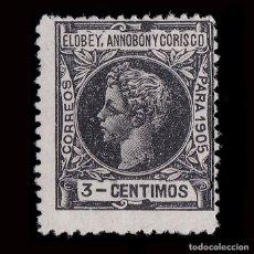 Sellos: ELOBEY 1905.ALFONSO XIII. 3C.NUEVO*.MN.EDIFIL 21.. Lote 190123376