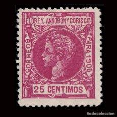 Sellos: ELOBEY.1905.ALFONSO XIII. 25C.NUEVO*.MN.EDIFIL 26.. Lote 190142001
