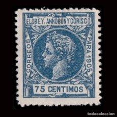 Sellos: ELOBEY.1905.ALFONSO XIII.75C.NUEVO*.MN.EDIFIL 28.. Lote 190142842