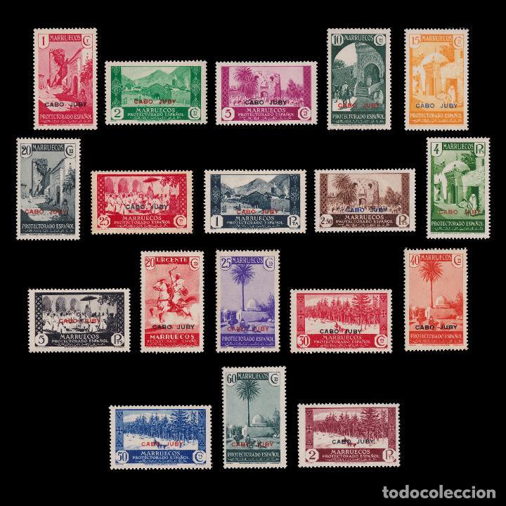 CABO JUBY.1935-36.HABILITADOS.SERIE.MNH-MN. EDIFIL 67-84 (Sellos - España - Colonias Españolas y Dependencias - África - Cabo Juby)