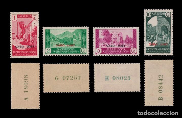 Sellos: CABO JUBY.1935-36.Habilitados.Serie.MNH-MN. Edifil 67-84 - Foto 2 - 190368095