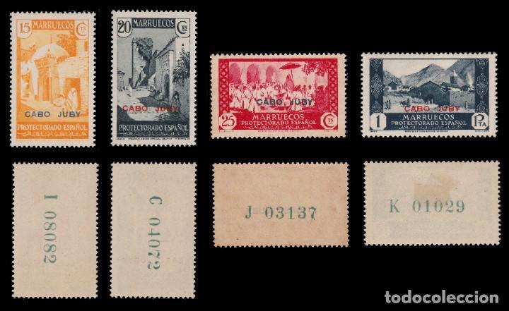 Sellos: CABO JUBY.1935-36.Habilitados.Serie.MNH-MN. Edifil 67-84 - Foto 3 - 190368095