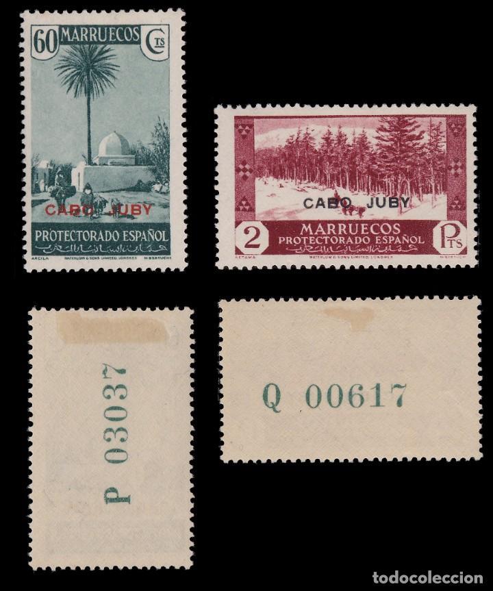 Sellos: CABO JUBY.1935-36.Habilitados.Serie.MNH-MN. Edifil 67-84 - Foto 6 - 190368095