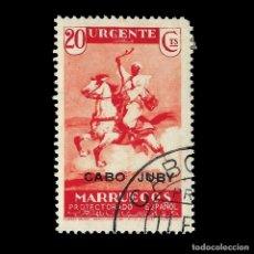 Francobolli: CABO JUBY 1935-36.HABILITADO.20C ROJO.USADO EDIFIL.78. Lote 190412895