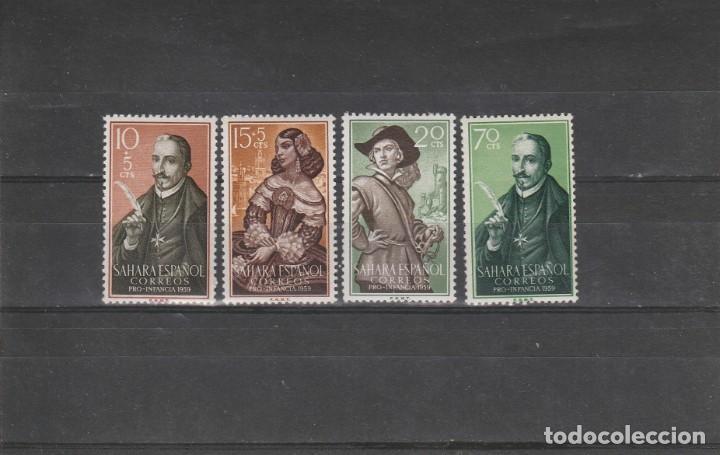 SAHARA ESPAÑOL 1959 - EDIFIL NRO. 156-59 - CHARNELA (Sellos - España - Colonias Españolas y Dependencias - África - Sahara)
