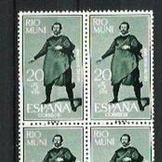 Sellos: RIO MUNI --- BLOQUE DE 4 --- NUEVOS - SIN USAR - SIN CHARNELA. Lote 190766445