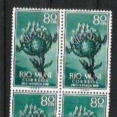 Sellos: RIO MUNI --- BLOQUE DE 4 --- NUEVOS - SIN USAR - SIN CHARNELA. Lote 190766572