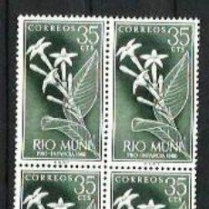 Sellos: RIO MUNI --- BLOQUE DE 4 --- NUEVOS - SIN USAR - SIN CHARNELA. Lote 190766628