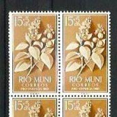 Sellos: RIO MUNI --- BLOQUE DE 4 --- NUEVOS - SIN USAR - SIN CHARNELA. Lote 190766673