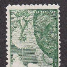 Sellos: SAHARA 1951 - V CENTENARIO NACIMIENTO ISABEL LA CATÓLICA SELLO NUEVO CON FIJASELLOS EDIFIL Nº 87. Lote 190864823