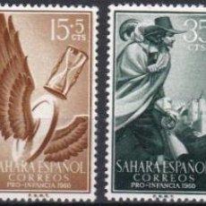 Sellos: SAHARA 1960 - PRO INFANCIA SERIE COMPLETA NUEVA SIN FIJASELLOS EDIFIL Nº 172/175. Lote 190868952